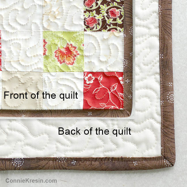 How to sew binding by machine to your quilt