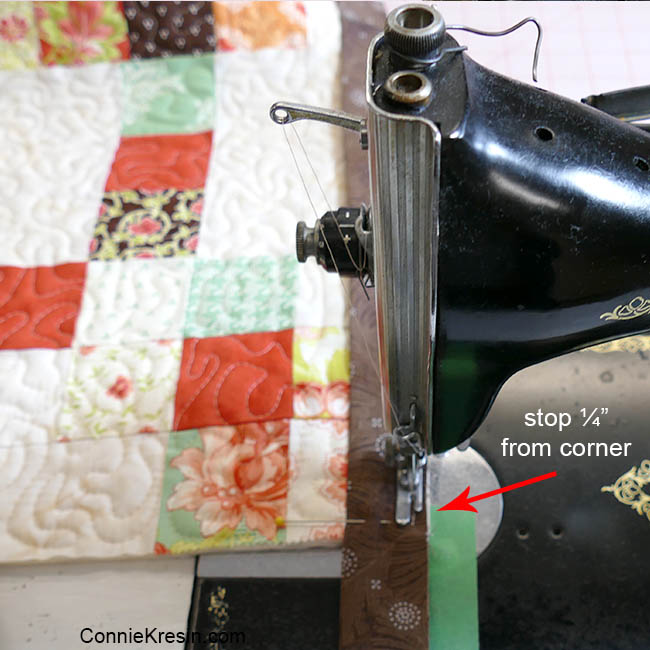 How to add binding to a quilt sewing it on