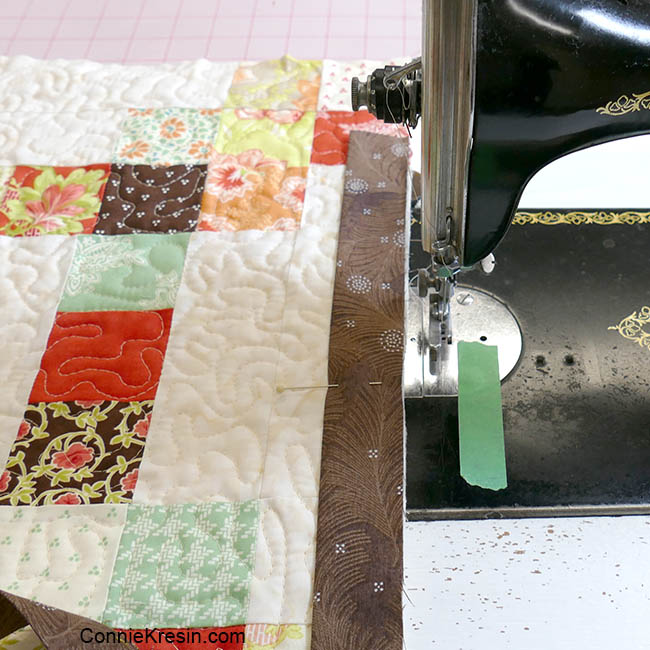 How to add binding to a quilt sewing on a vintage sewing machine