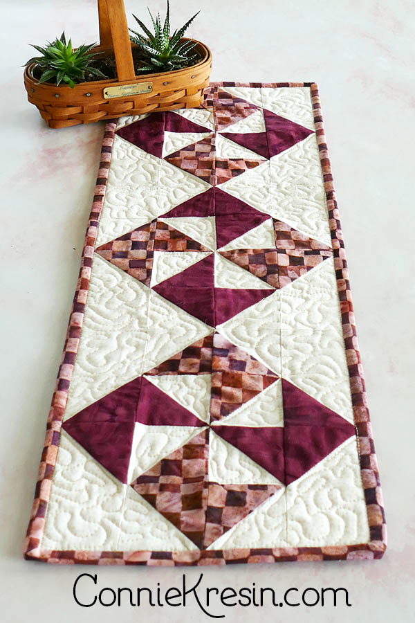 simple pinwheel quilt table runner tutorial three blocks for runner