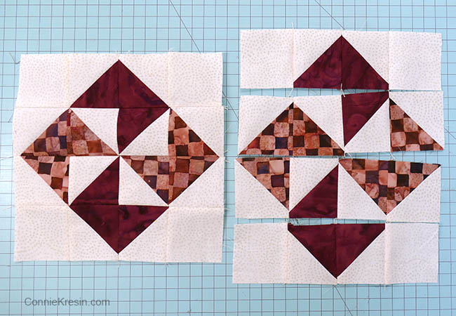 simple pinwheel quilt table runner tutorial block pieces for block rows