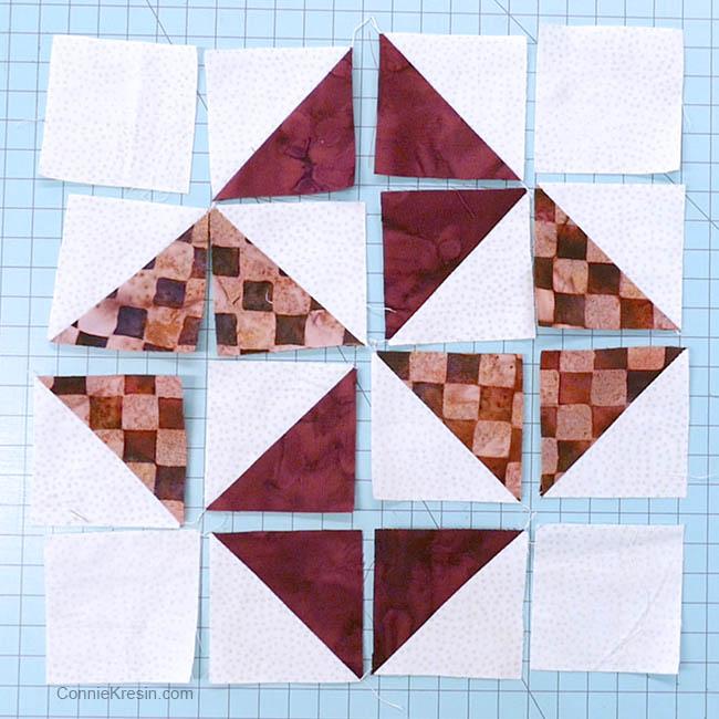 simple pinwheel quilt table runner tutorial block pieces for block