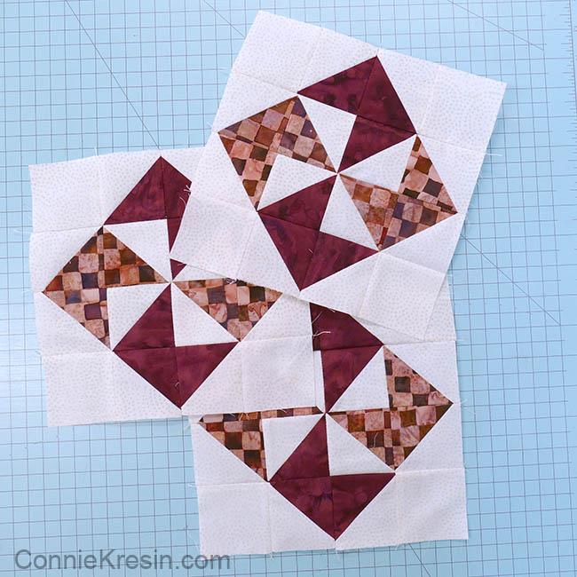 simple pinwheel quilt table runner tutorial three blocks