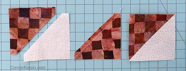 simple pinwheel quilt table runner tutorial half square triangles