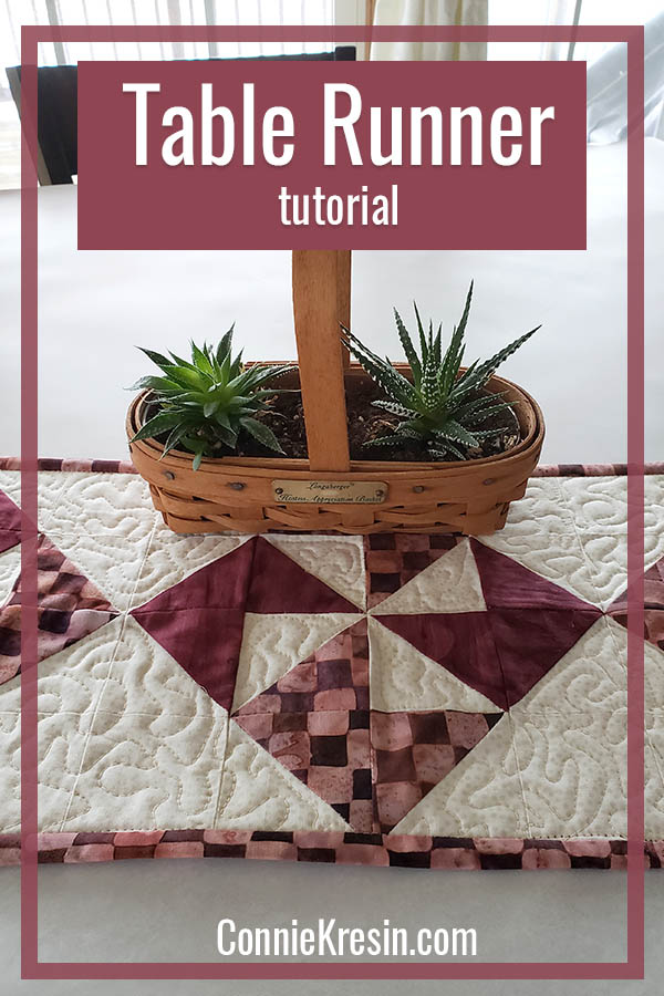 Simple PInwheel tablerunner tutorial