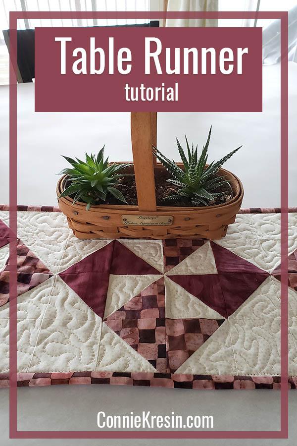 Simple PInwheel tablerunner tutorial