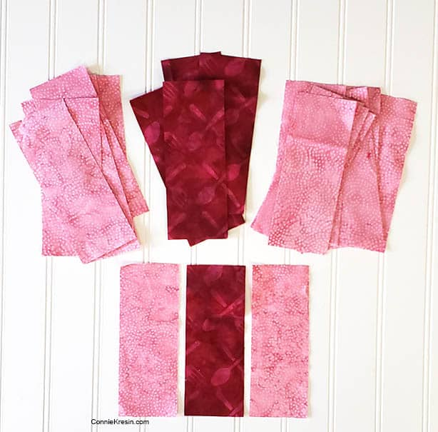 three by three quilt block table topper in just two colors fabrics