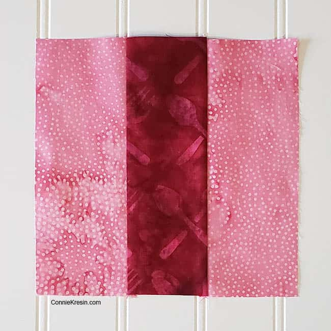 Three by Three 2 color quilt block