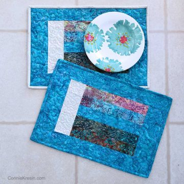 Teal Bargello placemats tutorial