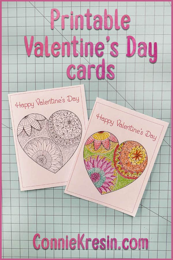 Printable cards are fun to print Valentine's Day Cards to Color
