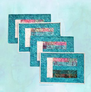 How to make Bargello Place Mats from Leftover Scraps