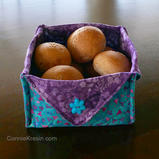 Fabric Basket tutorial with rolls