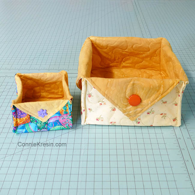 Fat Quarter Fabric Baskets easy to make tutorial