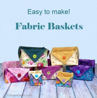Fat quarter fabric basket tutorial