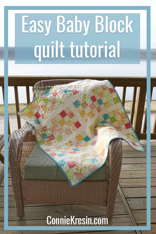 Easy Baby Block Quilt for Beginners tutorial