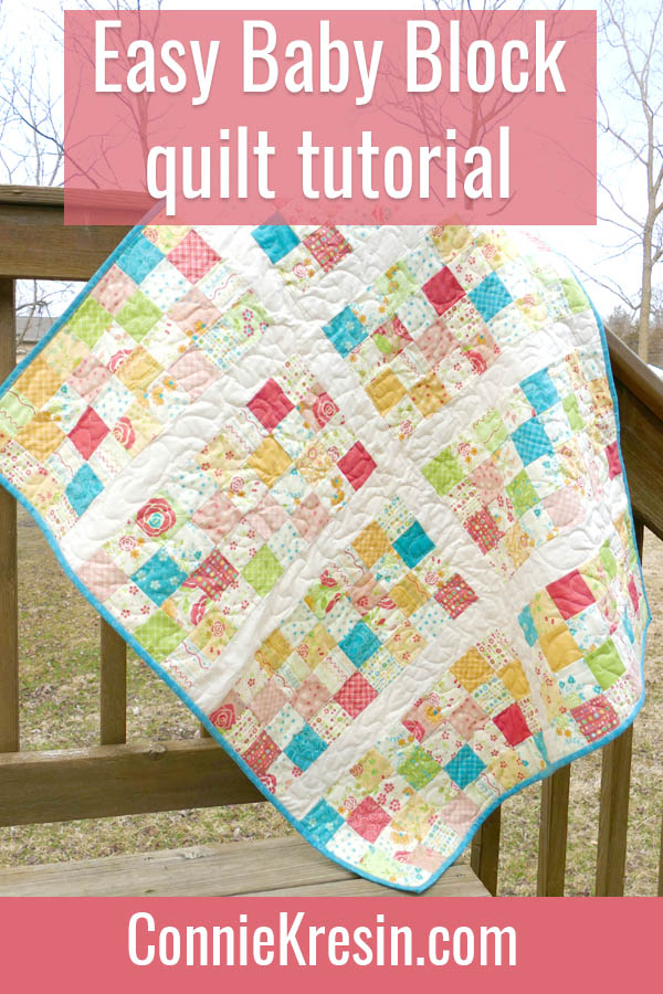 Easy Baby Block Quilt for Beginners tutorial easy to make