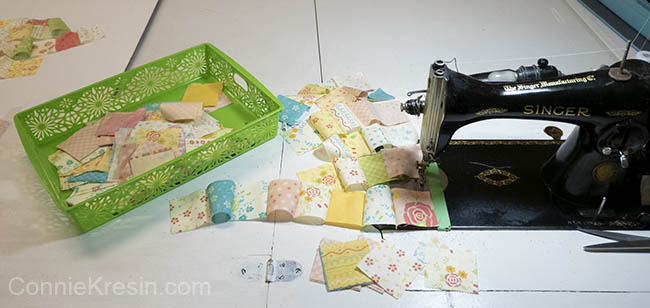 Easy Baby Block Quilt for Beginners tutorial squares sewing machine