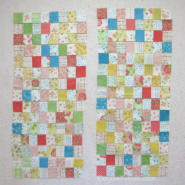 Easy Baby Block Quilt for Beginners tutorial two sections