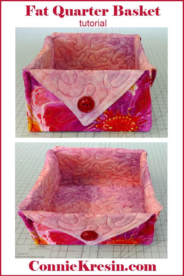 Fat quarter fabric basket tutorial easy to make