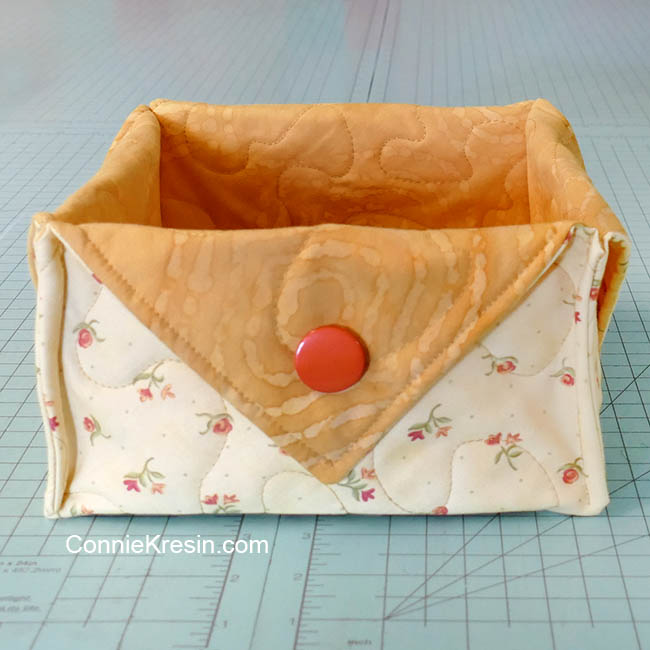 Fat quarter fabric basket tutorial yellow basket