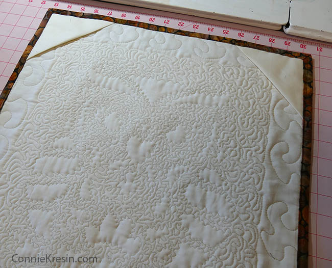 Owl Stenciled quilted wall hanging corners