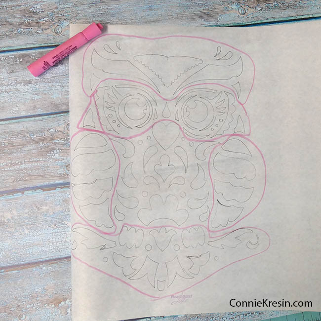 Owl Stenciled quilted wall hanging tracing applique pieces area