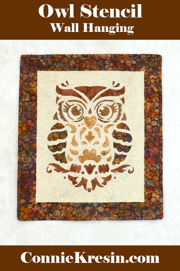 Owl stenciled quilted wall hanging tutorial