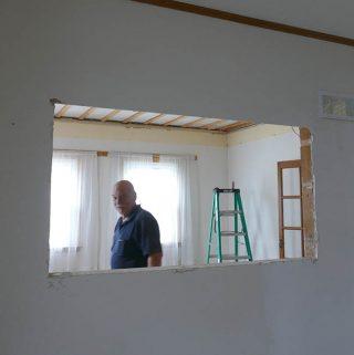 Bob the Builder living room demolition removed shadow box