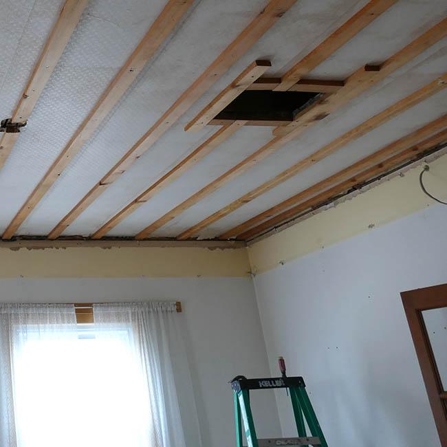 Bob the Builder living room demolition ceiling