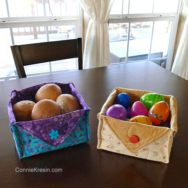 Fabric Easter Basket with toy and candy