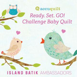 Island Batik Ready, Set, Go! Challenge Baby Quilt