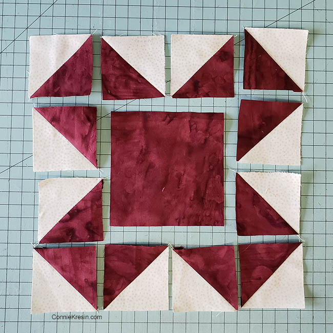 Baby quilt made with Qube 8 inch set from AccuQuilt