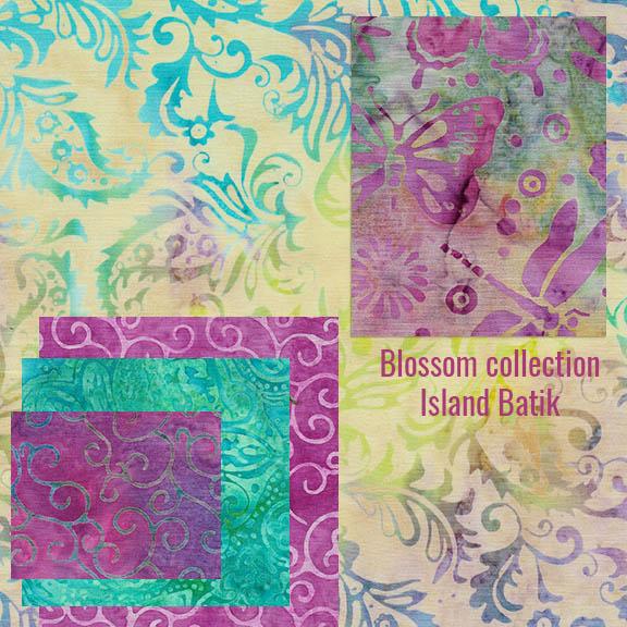 Blossom collection of batiks from Island Batik