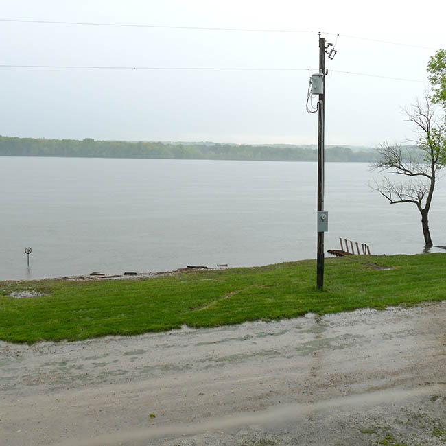 Flooding in front of our home on the Mississippi river