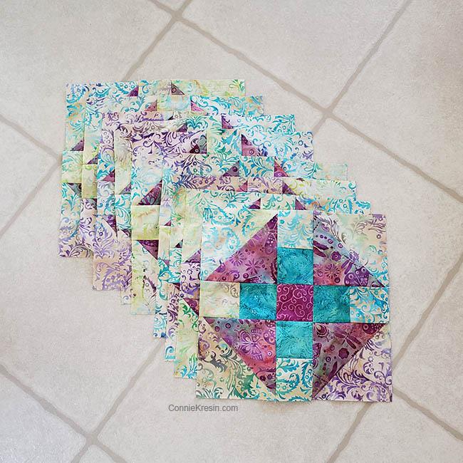 Luna quilt blocks for Island Batik quilt