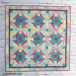 Luna Island Batik baby quilt Modern Challenge