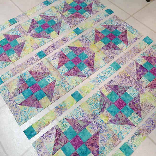 Luna batik baby quilt project
