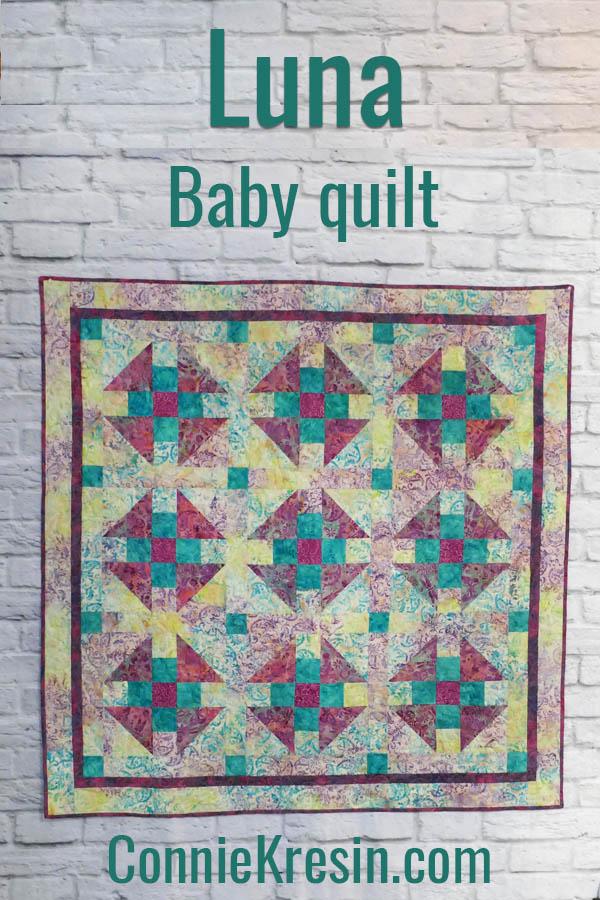 Luna baby quilt made with Island Batik fabrics