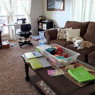 temporary quilt studio