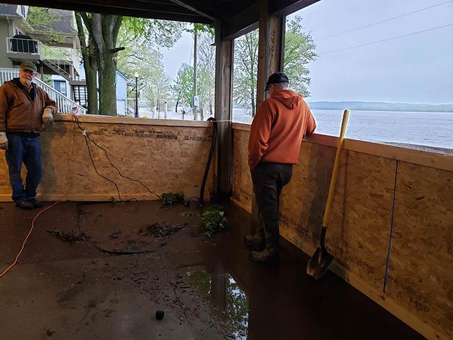 Sandbagging for the flood