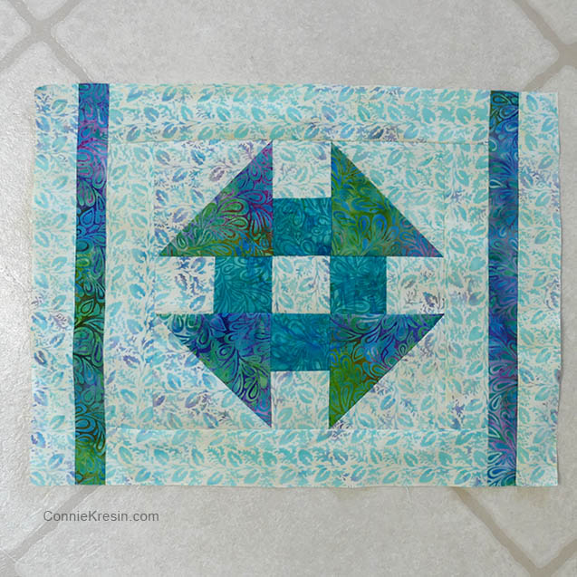 Churn Dash quilt block placemats tutorial block