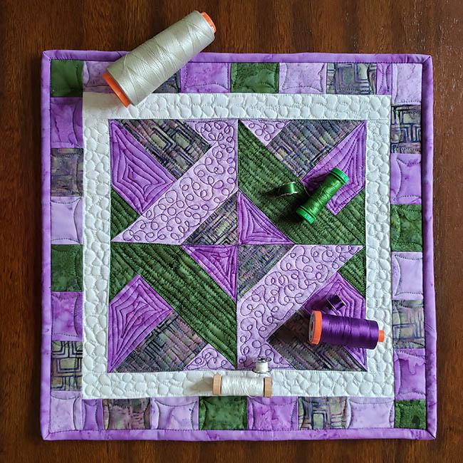 Artsy Fartsy Hidden Wells Quilt using Aurifil threads