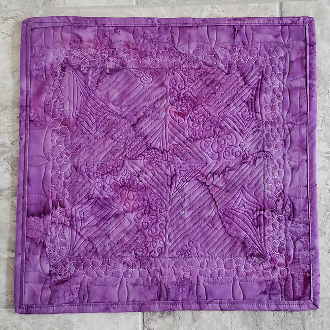 Artsy Fartsy Hidden Wells quilt back