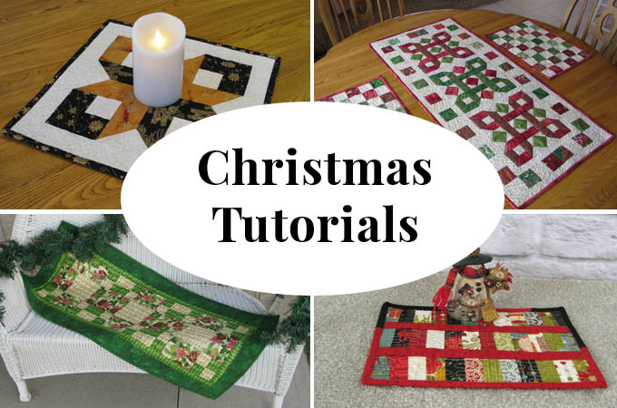 Christmas quilt tutorials