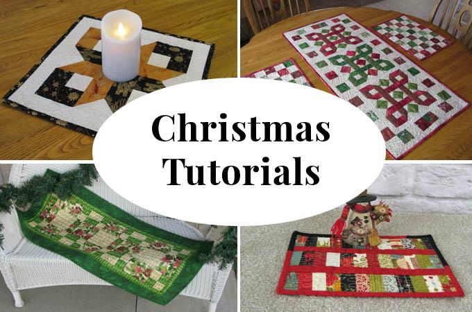 Christmas quilt tutorials