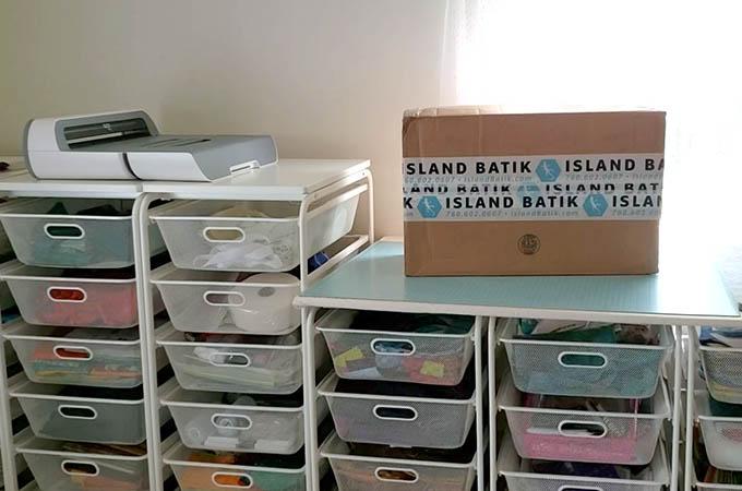 Island Batik Amabassador box of fabrics and other goodies
