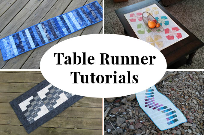 Tablerunner tutorials