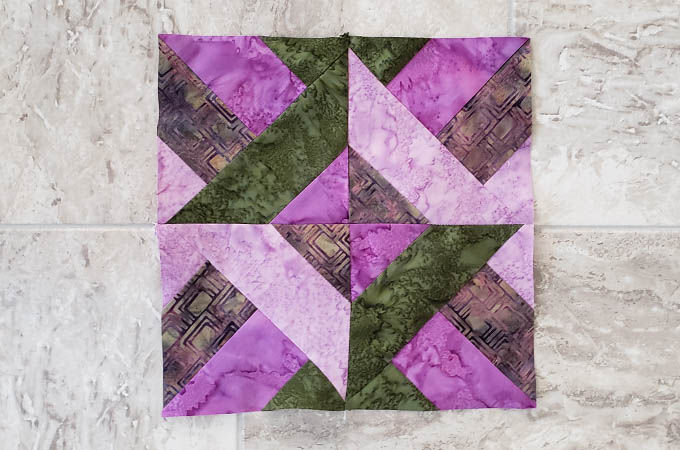 How to make Hidden Wells quilt block with strips
