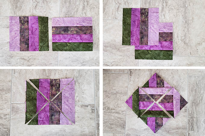 How to make the hidden wells quilt block 4 steps