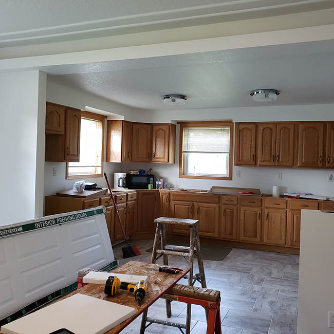 Kitchen remodel at our new house